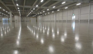 polished concrete floor in a warehouse in japan