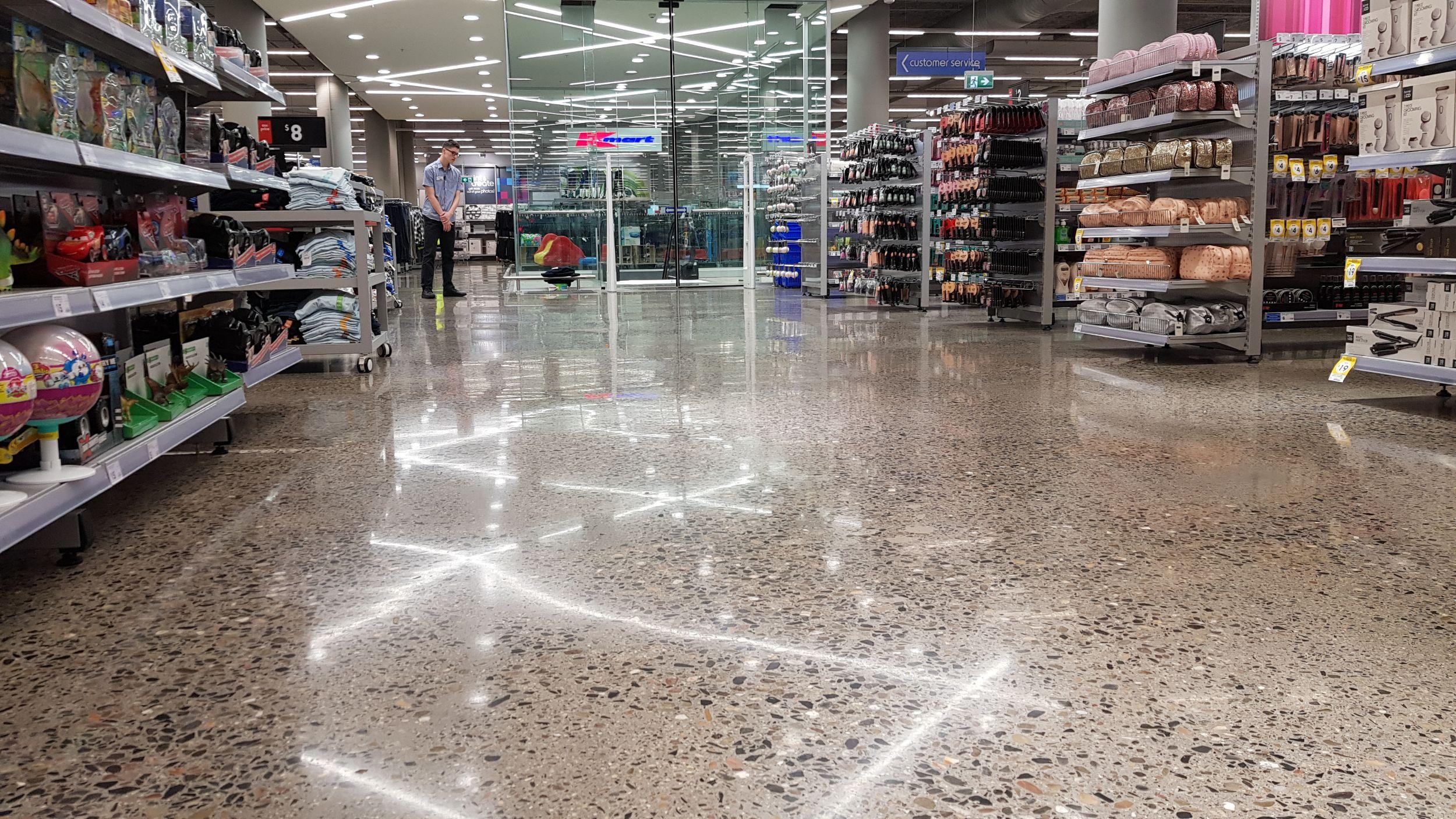 Decorative concrete flooring in kmart