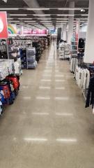 polished concrete floor in Kmart