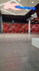 concrete floor in entrance to kmart