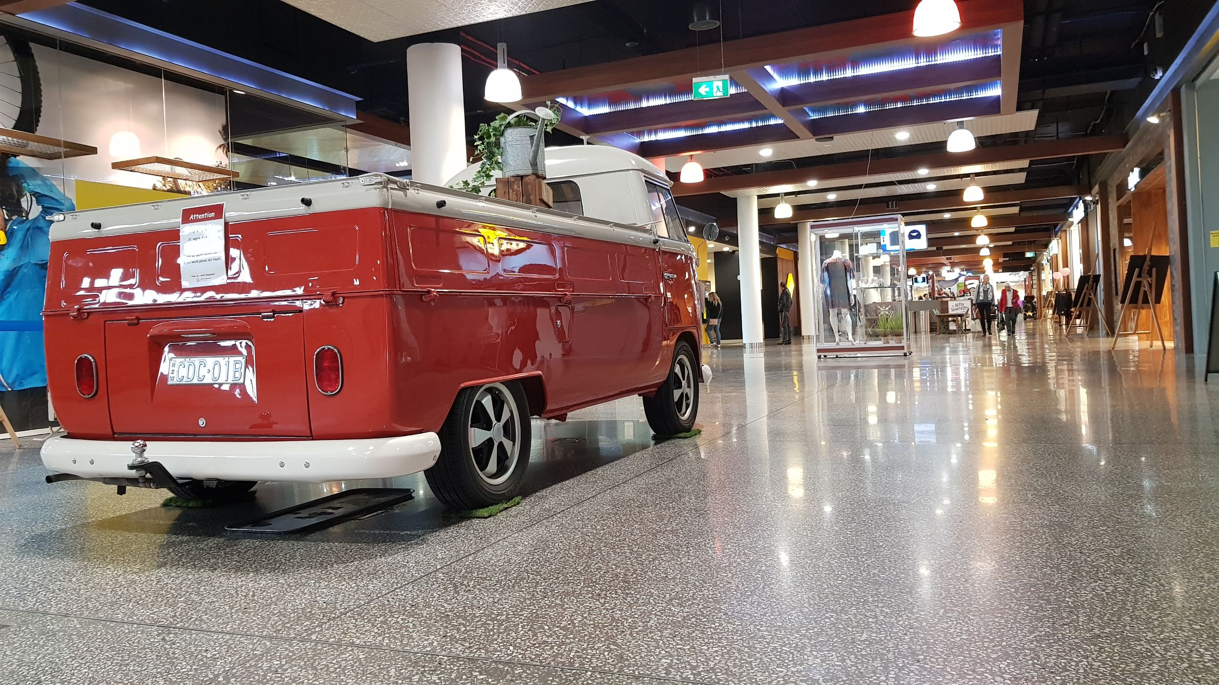 polished concrete floor in retail centre