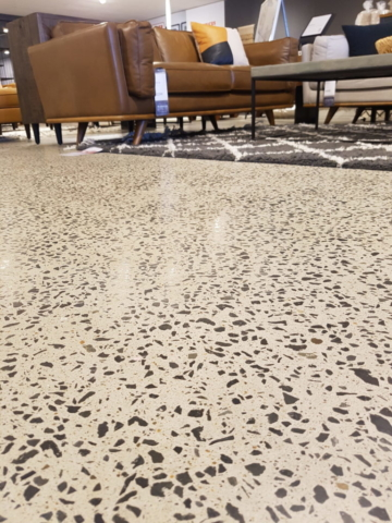 low angle shot of concrete in Freedom furniture