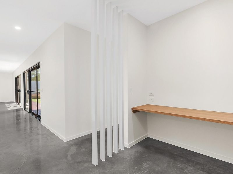 concrete floor in modern suburban home