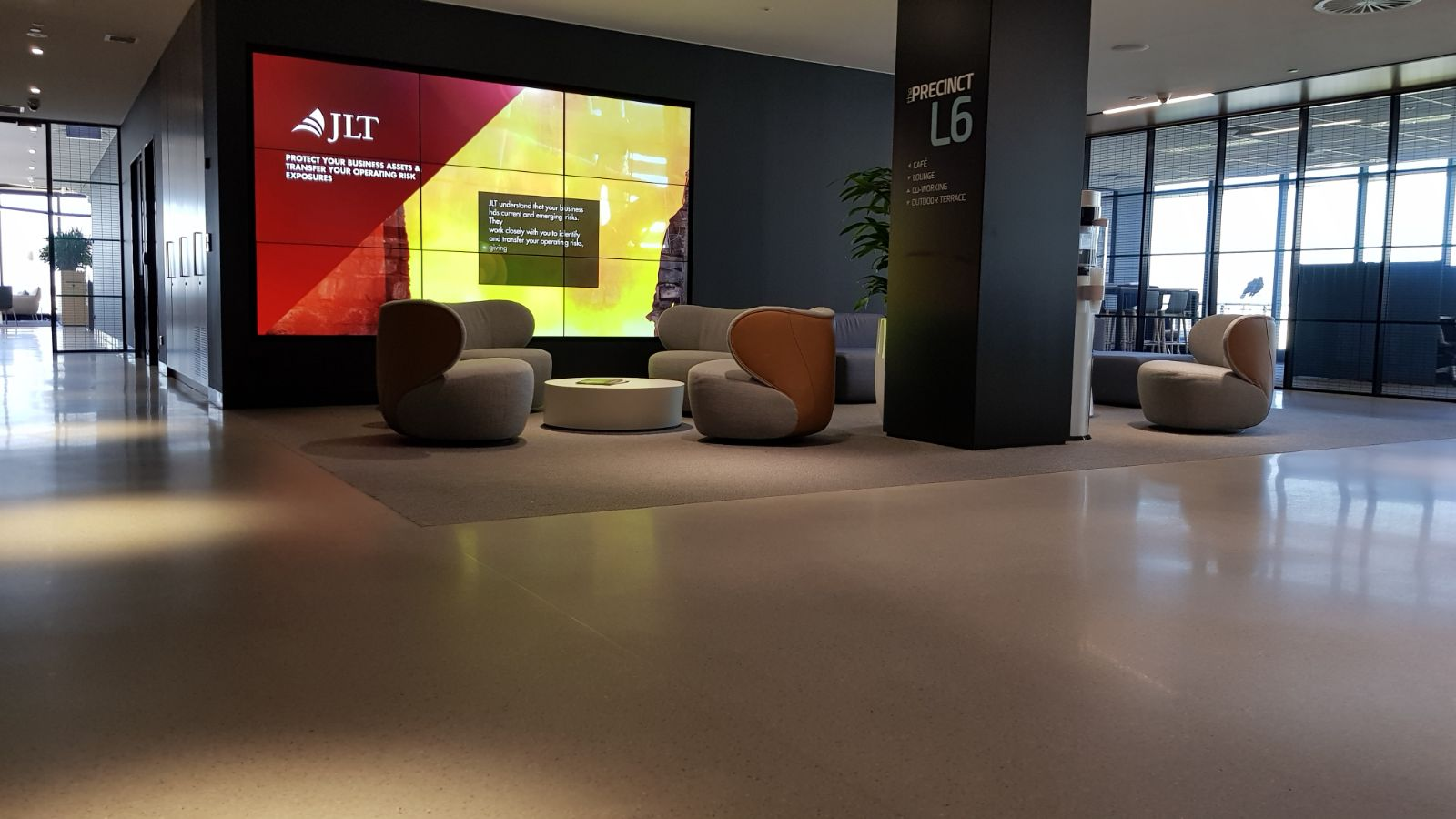 foyer area of commmercial building in sydney