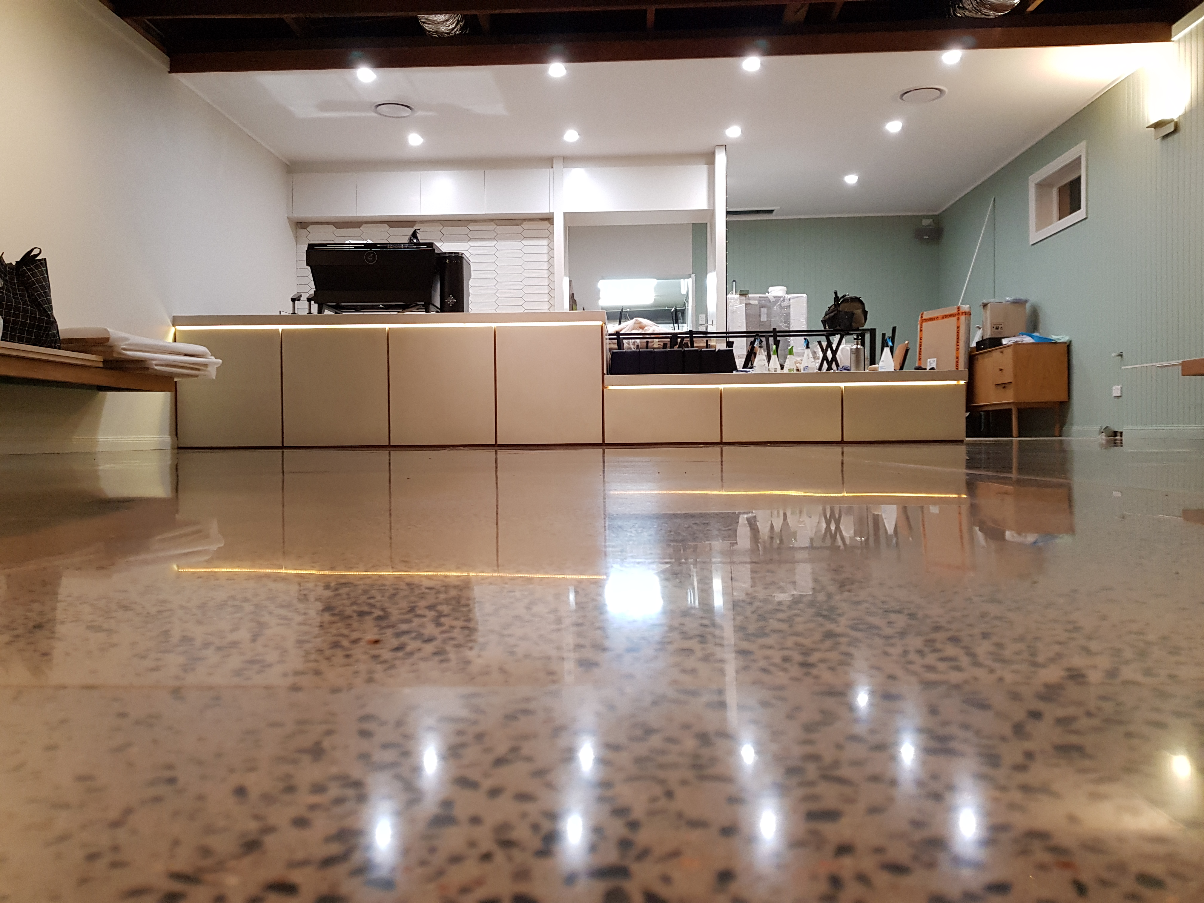 after photo of finished concrete floors