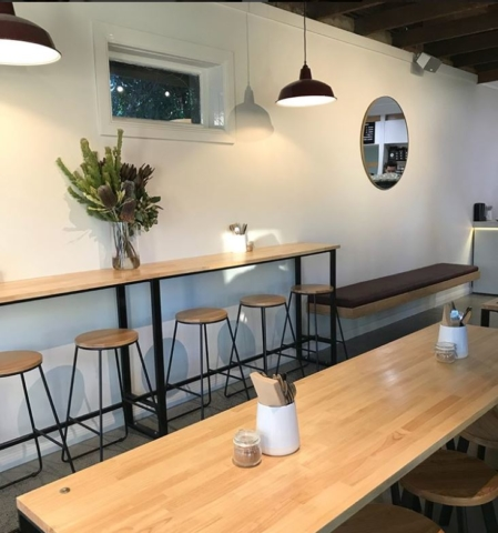 polished concrete in The Bakery Duck Cafe