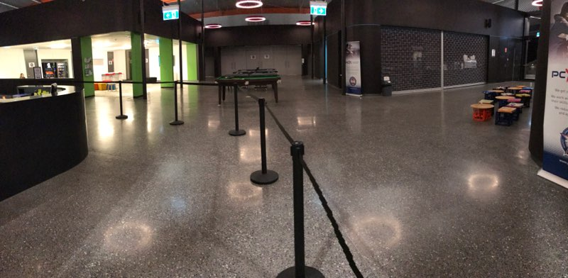 polished concrete floor in PCYC Dee Why