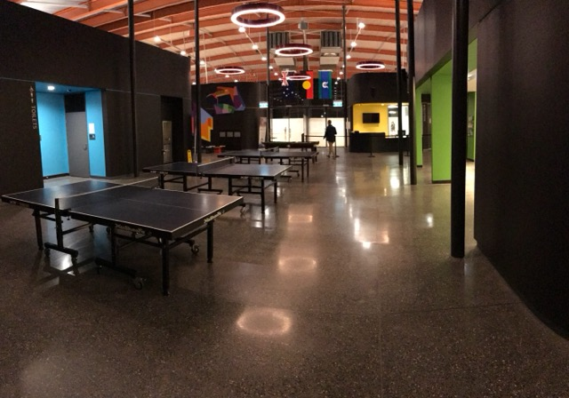 Table tennis tables in PCYC