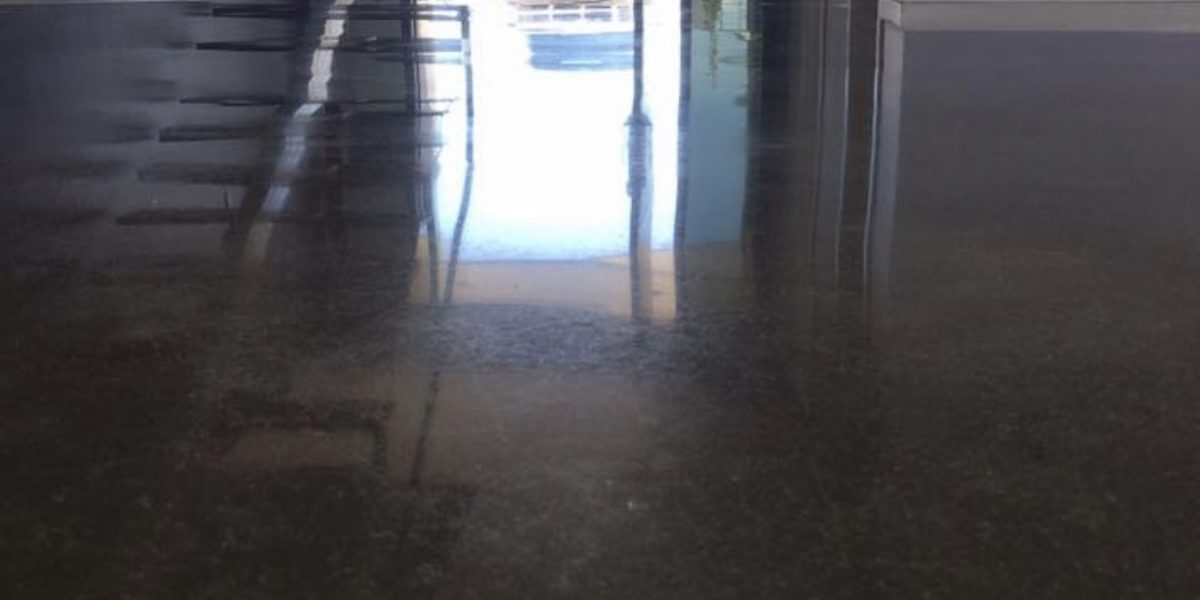 polished concrete flooring in Airlie Beach residence