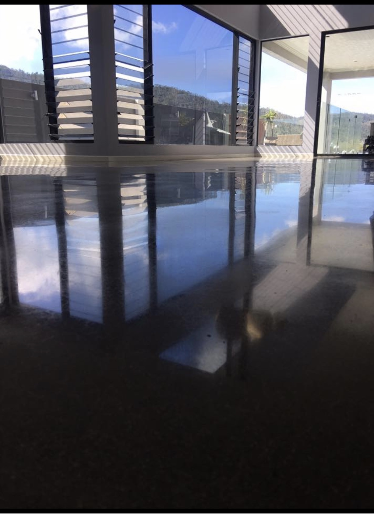 concrete floors in a home at The Cove