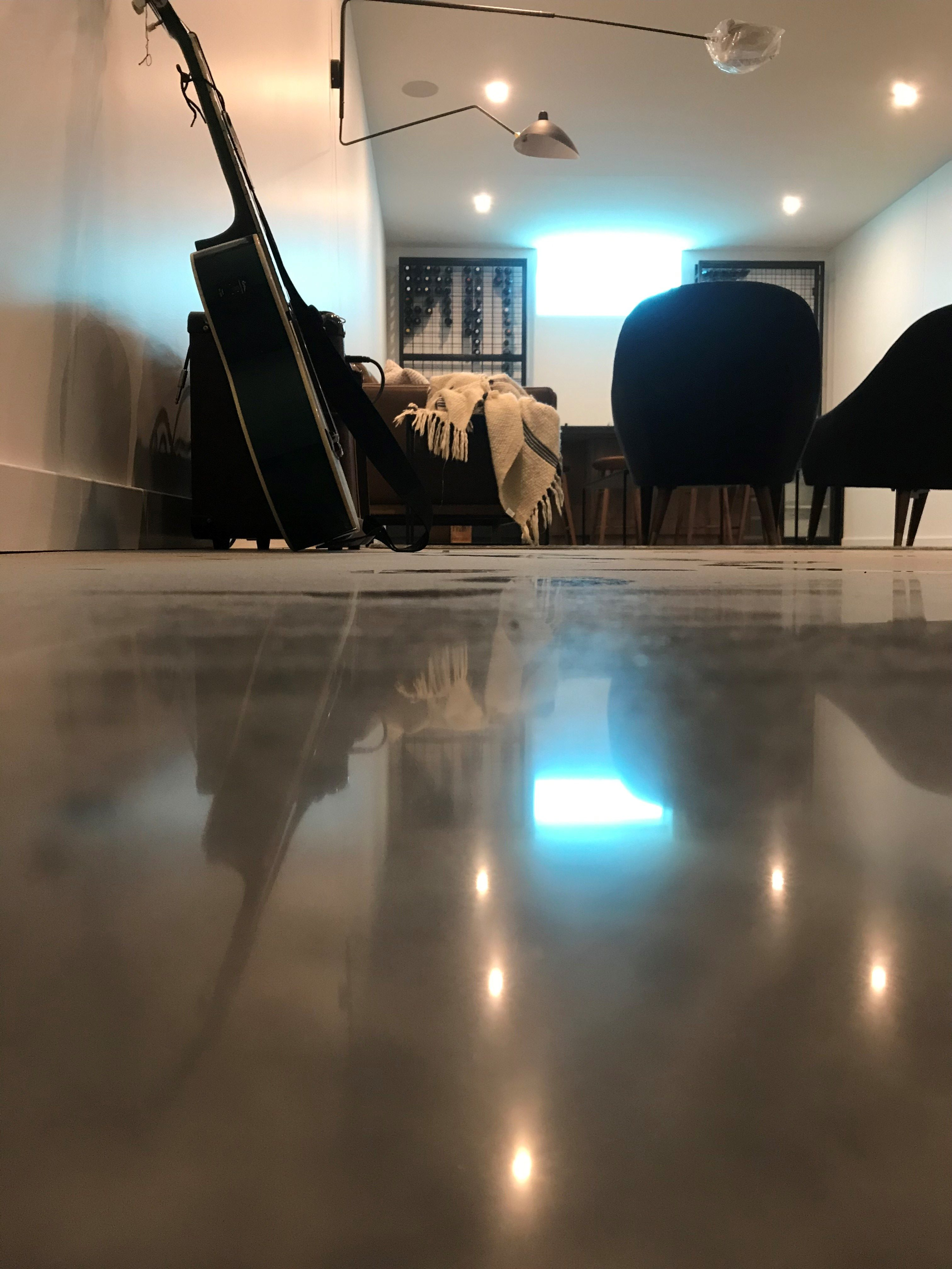 400 grit Pyrafloor Polished Concrete, Residential polish C2 Ultraseal