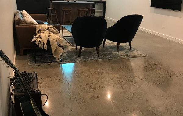 polished concrete floor in a home